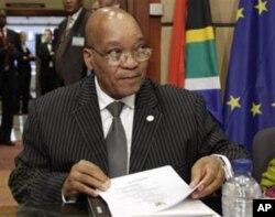 Le président Jacob Zuma à Bruxelles (28 septembre 2010)