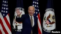 El presidente Joe Biden durante su primera visita como mandatario a la sede del Departamento de Estado de EE. UU. en Washington DC, el 4 de febrero de 2021.