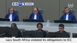 VOA60 Africa - ICC: South Africa Failed Obligations by Not Arresting Sudan's Bashir