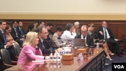 VOA contributor Greta Van Susteren testifying before the U.S. House Foreign Affairs Committee.