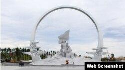 Ảnh chụp màn hình từ Báo Dân trí về khu tưởng niệm Gạc Ma.
