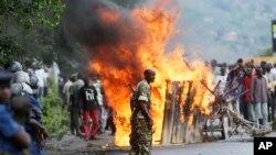 Manifestations politiques au Burundi, 4 mai 2015. (Photo d'archives)