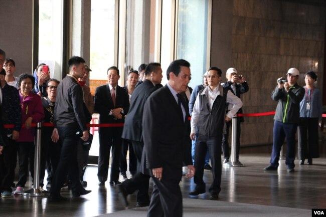 台灣前總統馬英九(美國之音楊明拍攝)