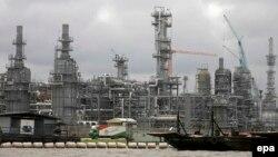 Terminal minyak Escravos milik Chevron di wilayah Niger delta, Nigeria.