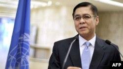 Chủ tịch Hội đồng Nhân quyền Liên hiệp quốc Sihasak Phuangketkeow loan báo ban phụ trách điều tra về vi phạm nhân quyền ở Libya