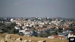 Une vue de la colonie juive d'Ariel, en Cisjordanie occupée