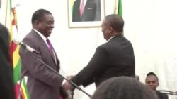 Zimbabwe President Greets His Deputies Chiwenga, Mohadi