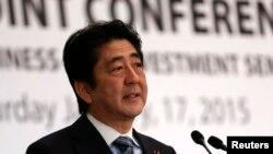 일본의 아베 신조 총리 (자료사진)