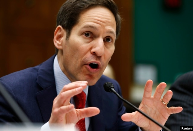 """U.S. Centers for Disease Control and Prevention Director Tom Frieden testifies before the House Committee on Energy and Commerce Oversight and Investigations Subcommittee hearing on """"Review of CDC anthrax LabIncident"""" on Capitol Hill in Washington, July 16, 2014."""