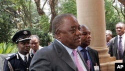 Zambia's former President Rupiah Banda arrives at the Presidential Guest House for Extra-Ordinary Summit in Pretoria, South Africa, January 26, 2009.