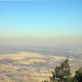 We're pretty sure that's Denver in the distance through the smog.