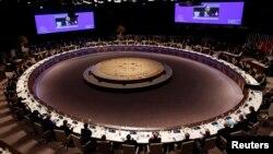 Tổng thống Mỹ Barack Obama phát biểu tại phiên bê mạc Hội nghị An ninh Hạt nhân ở The Hague 25/3/2014.
