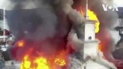 Nhà thờ New York chìm trong biển lửa