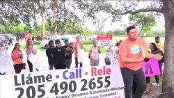 Protestan por supuesto mal trato en agencia ICE