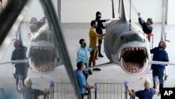 """""""Jaws"""" Installation at The Academy Museum of Motion Pictures"""