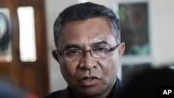 Perdana Menteri Timor Leste Rui Araujo berbicara kepada wartawan di Dili. (Foto: Dok)