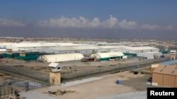 아프가니스탄 수도 카불 북부에 위치한 바그람 미군기지 수용소 전경.
