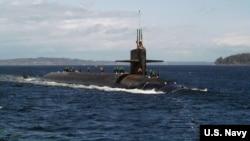 미 해군의 탄도미사일 장착 핵추진잠수함인 켄터키호. (자료사진)
