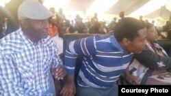 Expelled Zanu PF politicians Temba Mliswa and Jabulani Sibanda. (Photo: Charles Nyoni)