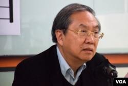 香港民主動力創會召集人鄭宇碩。(美國之音湯惠芸攝)