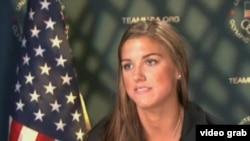 美国女足球员摩根(VOA视频截图)