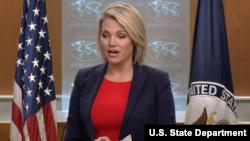 헤더 노어트 미국 국무부 대변인이 29일 정례브리핑에서 북한 문제 등에 관해 언급했다.