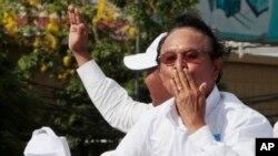 Ông Kem Sokha trong một sự kiện chính trị trước khi bị bắt.