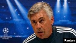 Carlo Ancelotti, pelatih Real Madrid gagal membawa klubnya meraih satupun gelar musim ini (foto: dok).