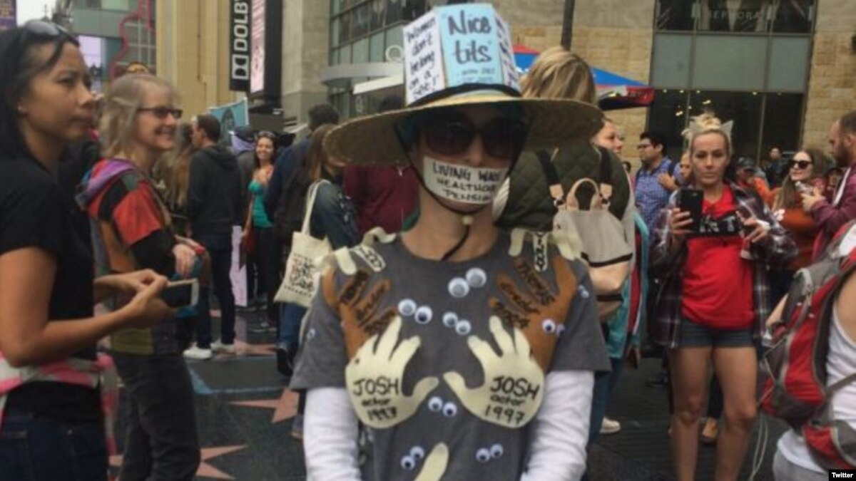 راهپیمایی هزاران نفر در لس آنجلس در اعتراض به آزار جنسی در هالیوود