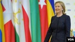 Menlu Amerika Hillary Clinton berbicara pada KTT OSCE di di Kazkahstan hari ini.