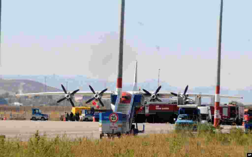 15일 터키 정부가 강제착륙시킨 미국 비행기.