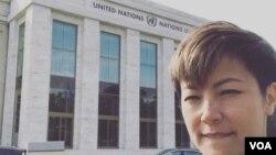 何韻詩準備出席日內瓦聯合國人權理事會會議。(圖片來源﹕何韻詩 Facebook)