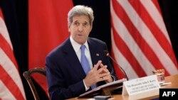 미국 워싱턴에서 열린 제7차 미-중 연례 고위급 전략경제대화 23일 존 케리 미 국무장관이 발언하고 있다.