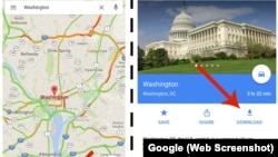 Google Maps lets users download custom maps which can be used even without an Internet connection.