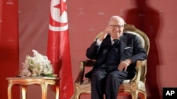 Le président tunisien Béji Caïd Essebsi à Monastir en Tunisie le 6 avril 2019.