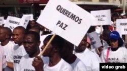 Desfile da Paz em Maputo, Moçambique