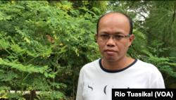 Ketua Odesa Indonesia Faiz Manshur dalam wawancara di Bandung mengatakan kolaborasinya dengan Alya telah membantu memecahkan masalah yang dihadapi warga Cimenyan. (Foto: VOA/Rio Tuasikal)