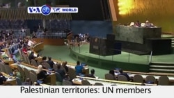 VOA60 World - UN members approved the Palestinian request to fly their flag at the UN - September 11, 2015