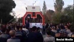 تجمع کارگران شرکت صنایع آذرآب در حمایت از کارگران هپکو اراک