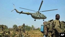 On patrol in DRC, South Sudan and Central African Republic with the Ugandan Army, hunting for LRA rebels and their leader, Joseph Kony (file photo)