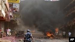 Kampala, le 29 avril 2011 suite aux émeutes