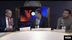 Carlos Veiga no programa Washington Fora d'Horas, na VOA