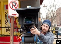 Director Jason Reitman on the set of the movie