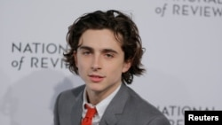 ARCHIVO - El actor Timothée Chalamet a su llegada a la gala del National Board of Review Awards. Nueva York, enero. 9, 2018.