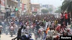 Manifestation contre l'ingérence du Rwanda dans la crise du Burundi, à Bujumbura, le 13 février 2016.