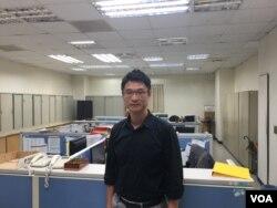 台湾内政部警政署刑事警察局侦查第九大队大队长林建隆(美国之音许宁拍摄)