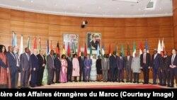 Les ministres des Affaires étrangères lors d'une réunion de l'Union africaine à Rabat, Maroc, 9 janvier 2017. (Twitter/Ministère des Affaires étrangères du Maroc)