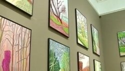 نمايشگاه آثار ديويد هاکنی نقاش بريتانيايی