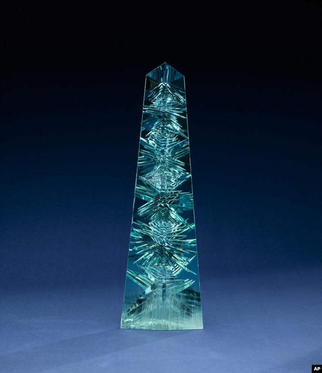 The obelisk-shaped Dom Pedro gem, the world's largest cut aquamarine gem, will go on display at the Smithsonian's National Museum of Natural History in Washington. The crystal was mined in Brazil in the late 1980s and is named for Brazil's first two emper