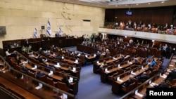 Knesset, Parlemen Israel di Yerusalem, 6 April 2021. (Alex Kolomoisky/ Pool via REUTERS)